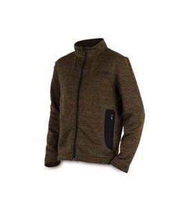 Chunk  medium knit khaki vest 100 % polyester